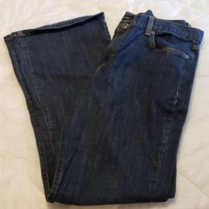 Calvin Klein Flare Fit Jeans Womens 14